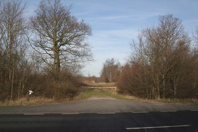 Entrance to Rand Wood from the A158 at Bullington