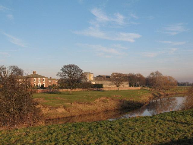 Ellenthorpe Hall across the Ure
