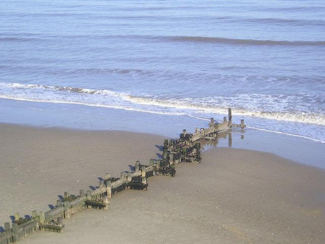 Looking down on Mundesley beach