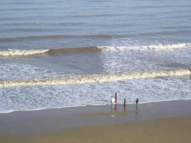 Mundesley beach in February sunshine
