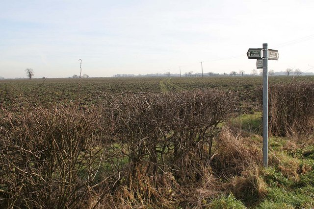 Rights of way near Wickenby