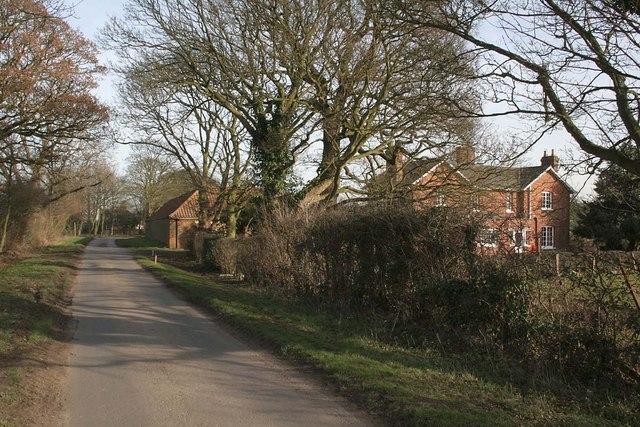Lane past Shepherds Farm, Goltho