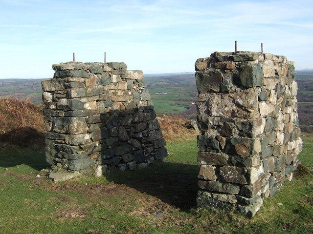 Stone pillars on eastern slope of Carningli