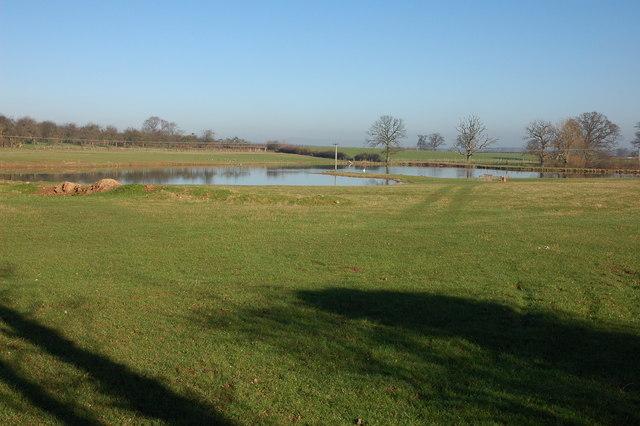 Fishing lake at Lower Chadnor