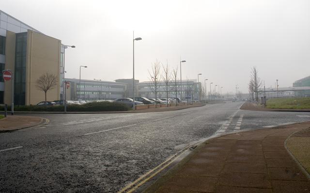 Archway, looking towards 'Birley Fields'  development