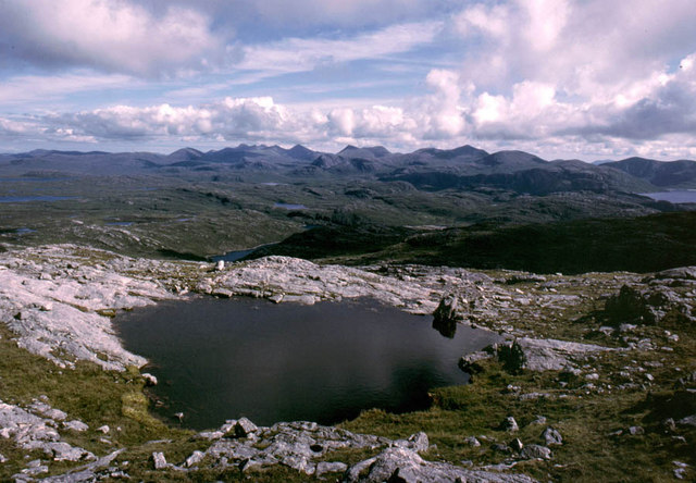 Lochan close to summit of Laibheal a Deas