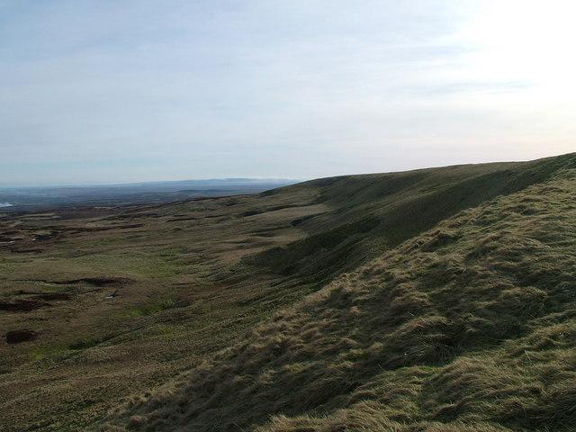 North-east escarpment of Little Fell