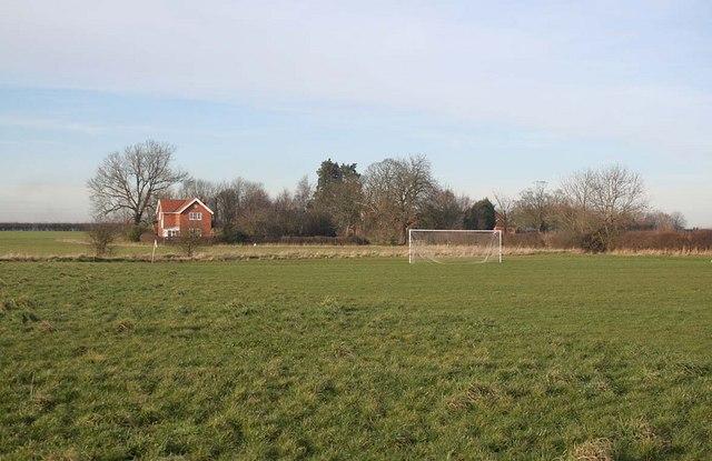 East Barkwith football field and Grange Farm