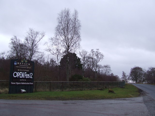 Sign near gates to Revack estate