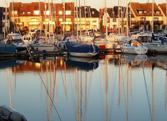Sunrise at Hythe Marina Village