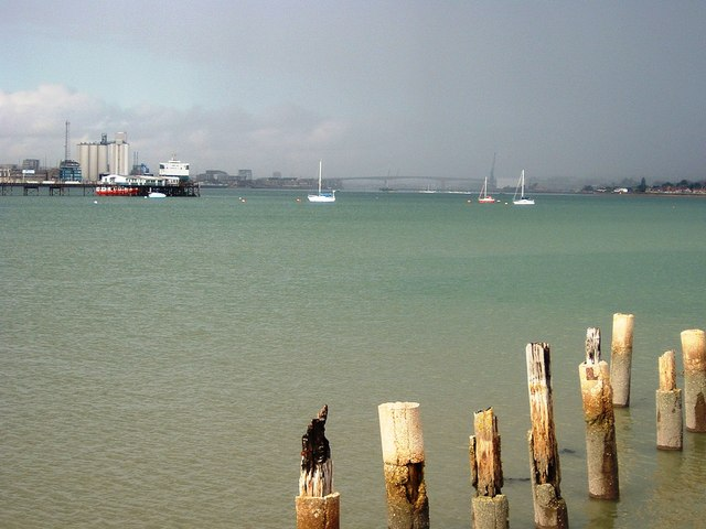 Southampton Water looking up the River Itchen