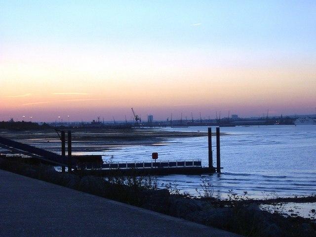 Sunset by the Lock on Hythe Marina