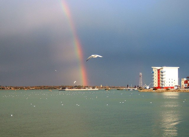 New Flats at Hythe with Rainbow