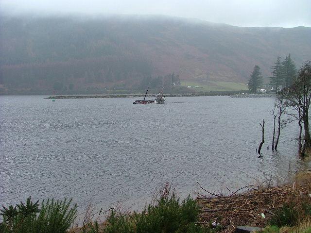 Sunken Boat in Ceann Loch