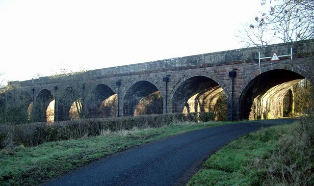 Disused railway viaduct