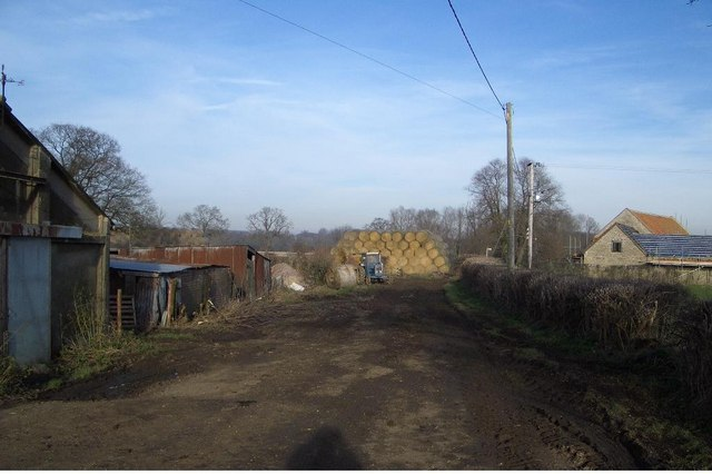 End of Pinchmill Lane at Brook Farm, Felmersham