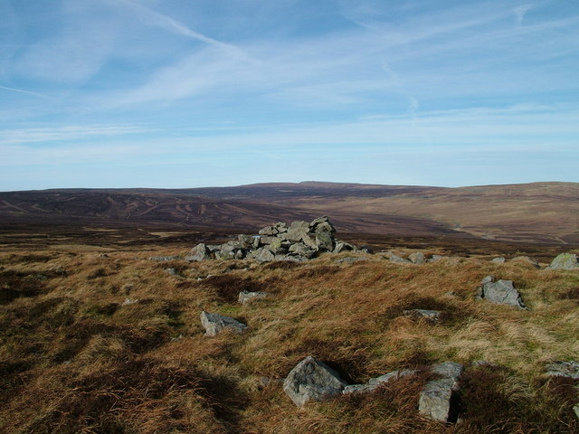 Pile of stones under Mickle Fell