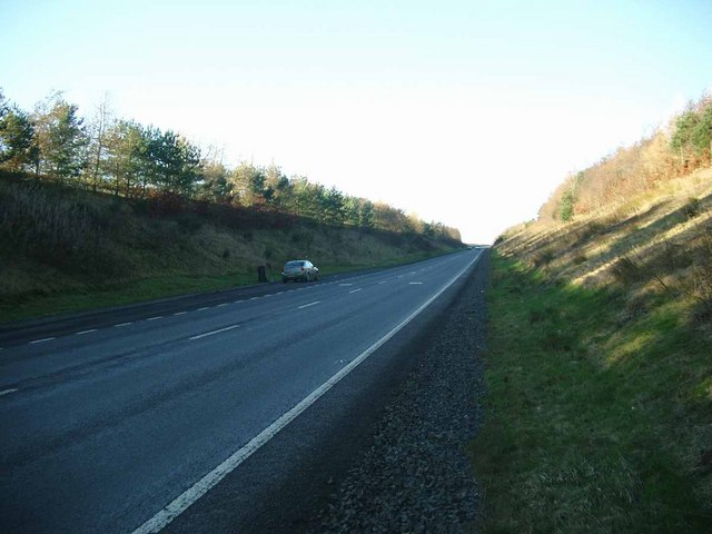 Cutting on the A76