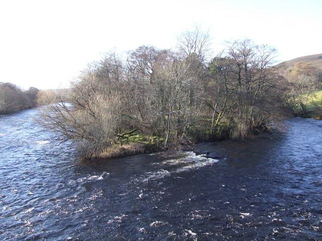 Small island near Advie Bridge