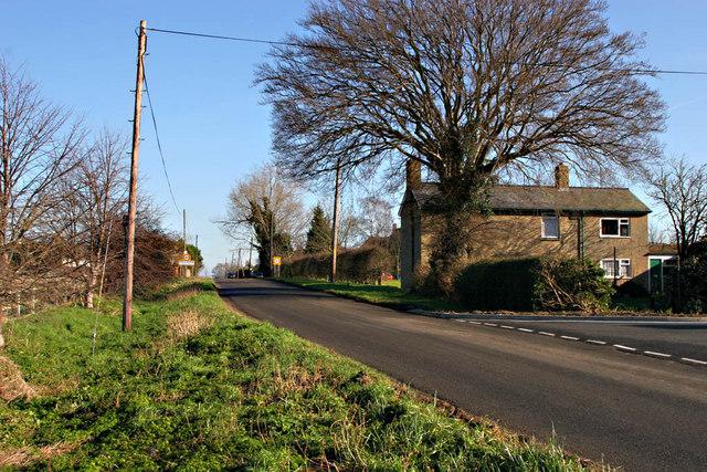 Ashwell Road  in  Steeple Morden