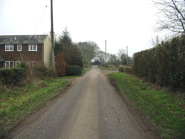Looking SE along Gate Lane