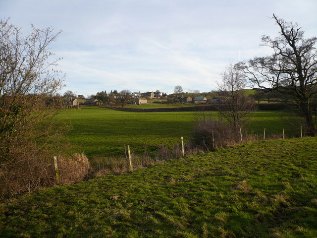 View across fields to Oakstedge Lane