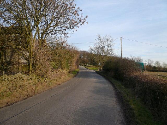 Butterley Lane view towards Whitecarr Lane Junction