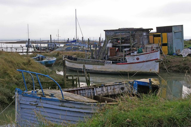 Weathered Boats on a Medway Mooring