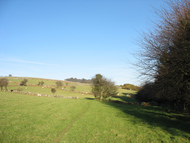 Small, stone-wall enclosed fields on Pen Dinas