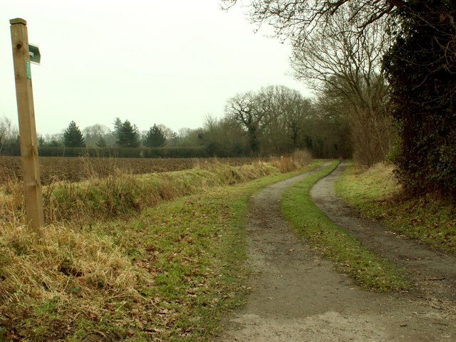A Byway just east of Bredfield village