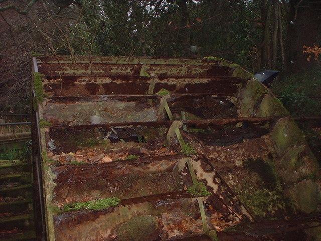 Rusting Water Wheel at Trigon Farm