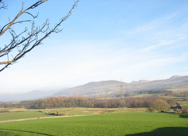 Coed Rhydau from the slopes of Pen Dinas