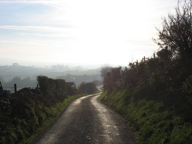 Lane west from Pen Dinas