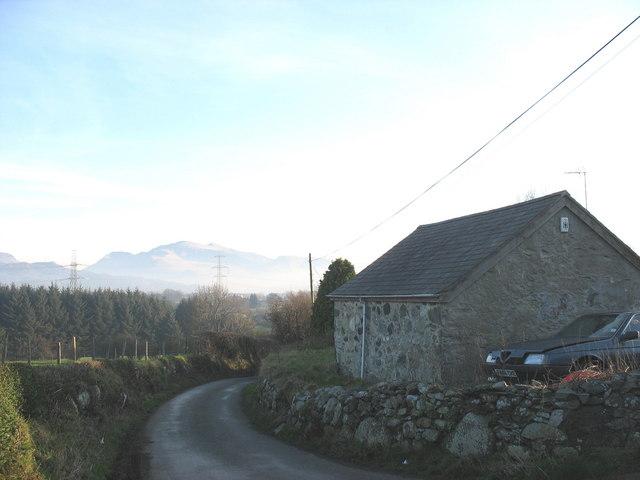 Sunken lane by Pen-y-groes Cottage