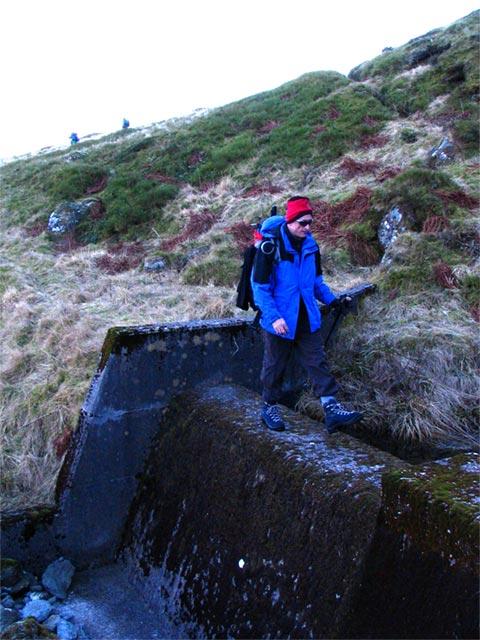 walking the mini dam