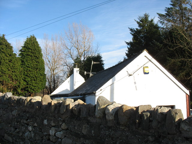 Cottage in the yard of the old Llanrug L&NWR station