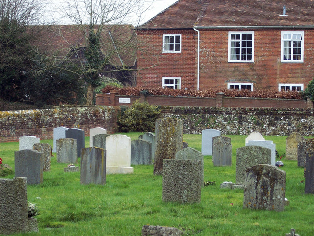 St Andrew's Churchyard and Lower Nunton Farm House