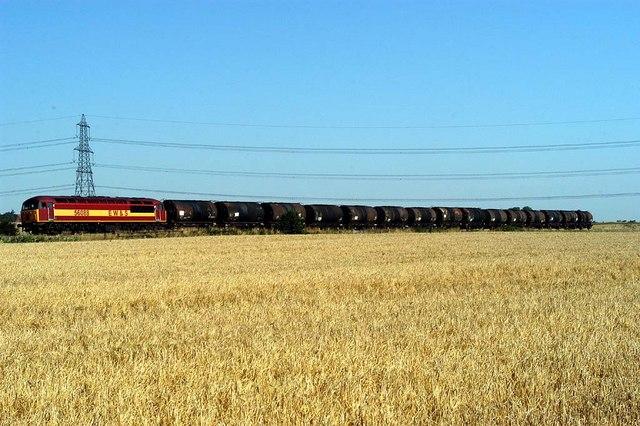 Oil Train at Burton Salmon