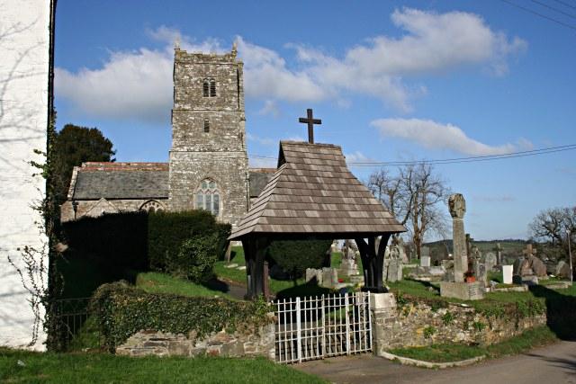 Lawhitton Church and Lych Gate