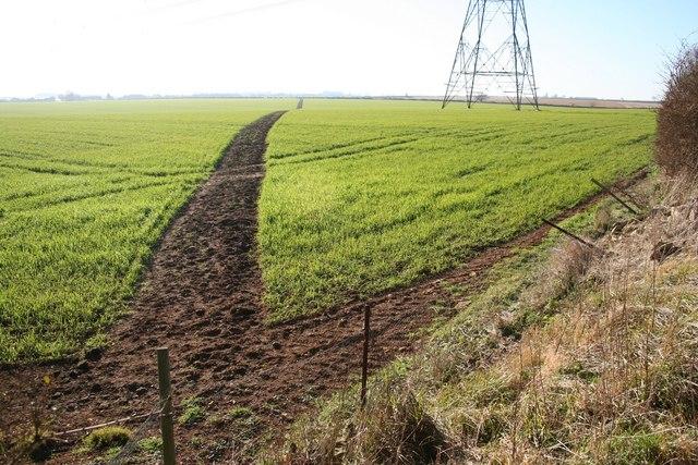 Path to Highfield House farm