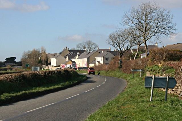 New housing on the edge of Launceston