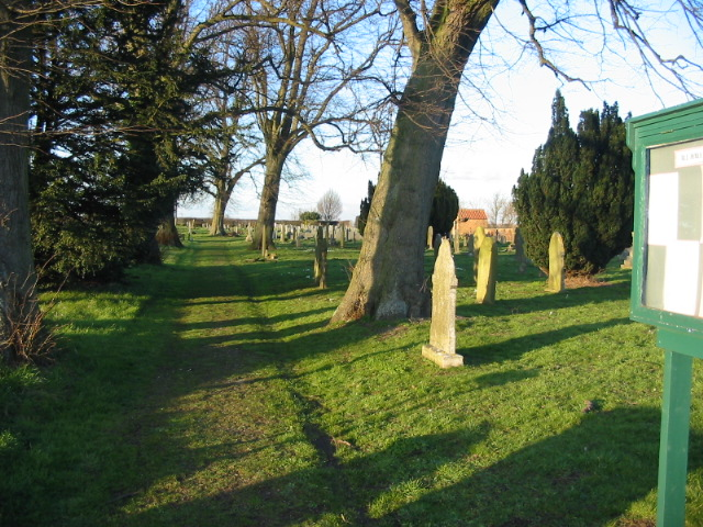 Cemetery near to Sutton-on-the-Forest