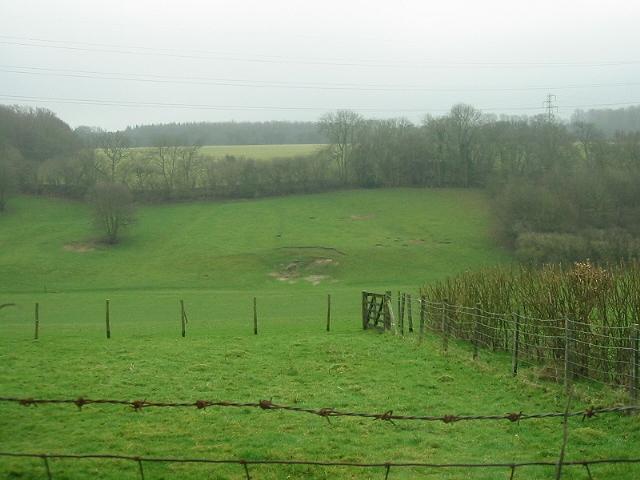 View, looking SE across green fields
