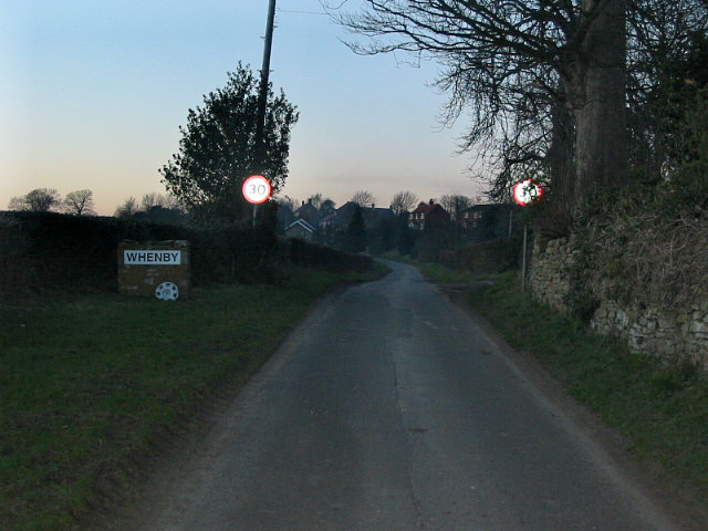 Approaching Whenby from Sheriff Hutton