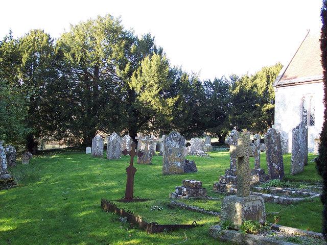 Gravestones at St Margarets Church, Chilmark