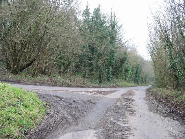 Junction to the E, off Pett Bottom Road