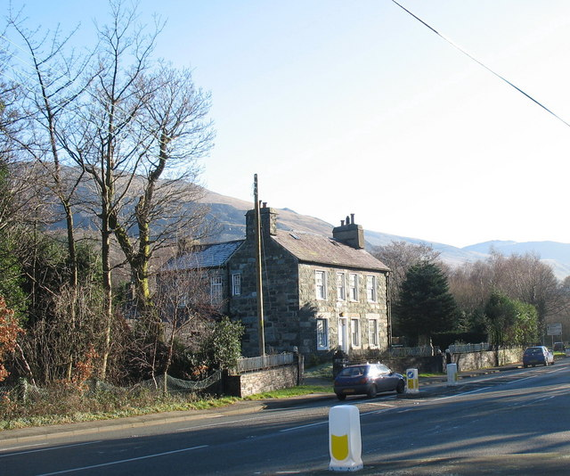House opposite the entrance to the Glynrhonwy industrial estate