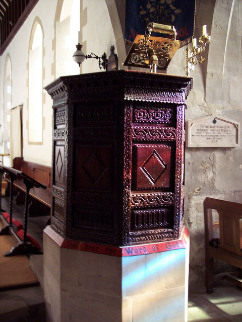 Jacobean Pulpit at the Church of St Margaret of Antioch