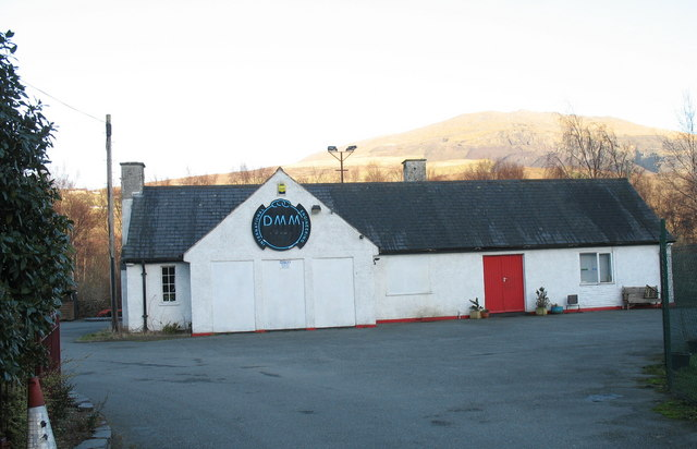 The former guardroom of RAF Llanberis, now the home of DMM