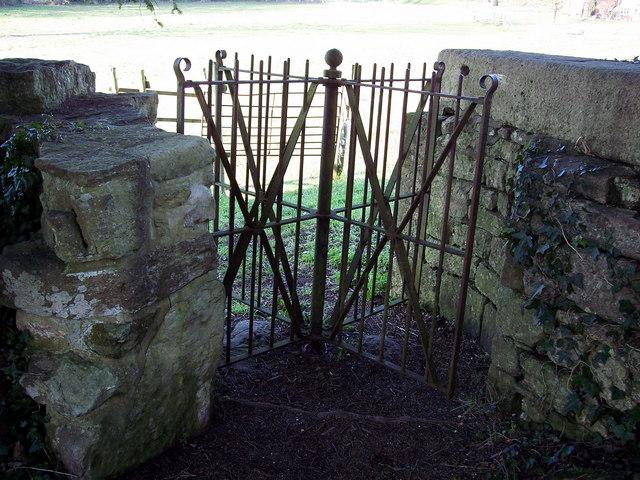 Turnstile exit from St Margaret of Antioch Church, Chilmark